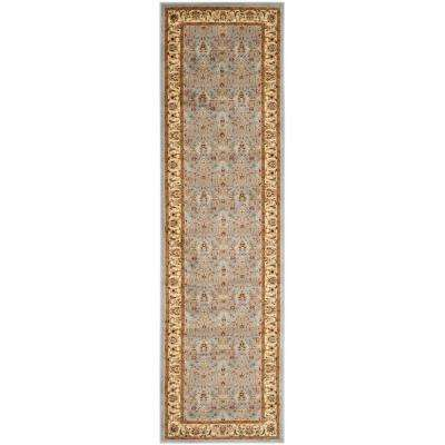 Lyndhurst Light Blue/Ivory 2 ft. x 17 ft. Runner Rug