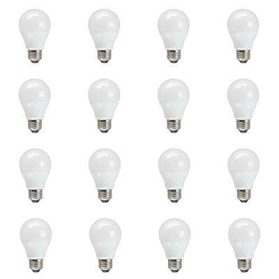 60W Equivalent Soft White A19 Non Dimmable LED Light Bulb (12-Pack)