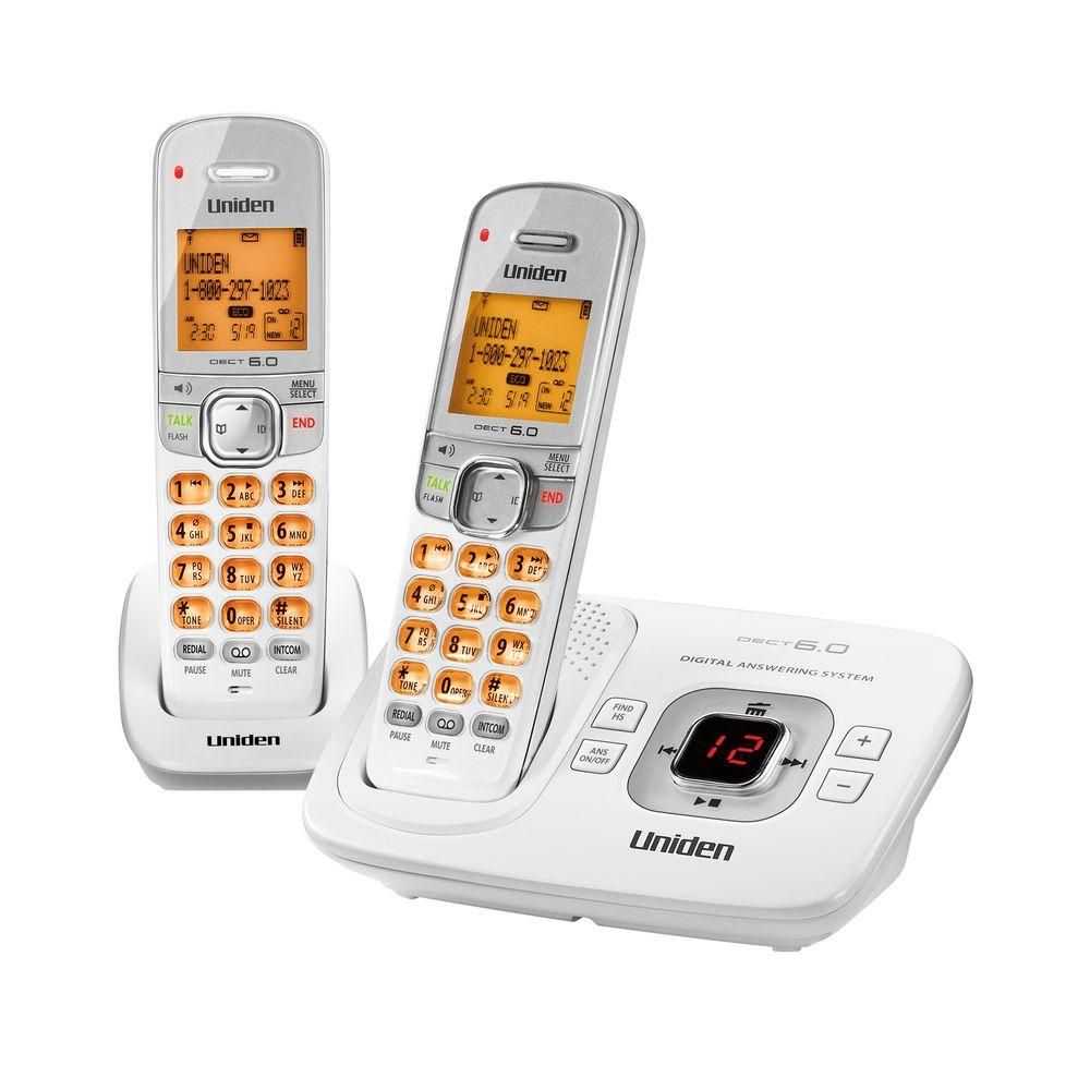 Uniden 2 Handset DECT 6.0 Cordless Phone with Digital Answering System-DISCONTINUED