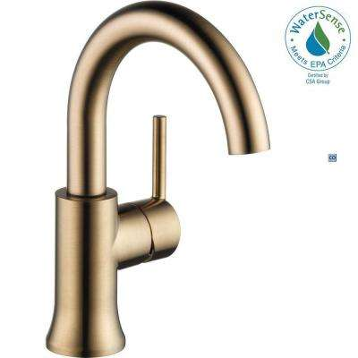 Delicieux Trinsic Single Hole Single Handle Bathroom Faucet With Metal Drain Assembly  In Champagne Bronze