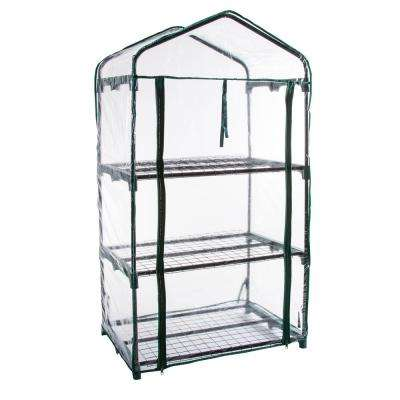27.5 in. x 19 in. x 50 in. 3 Tier Greenhouse