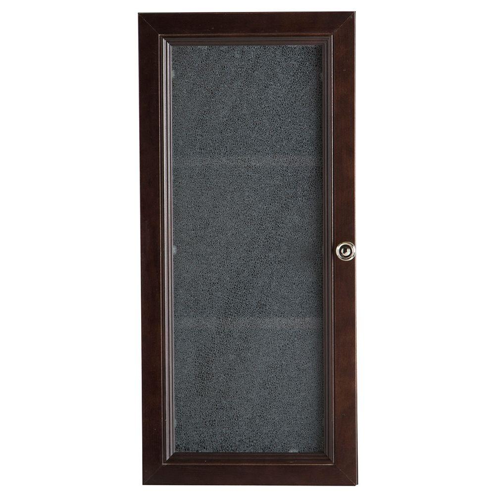 delridge 135 in x 295 in surface mount modular wall hutch in chocolate - Medicine Cabinet Home Depot
