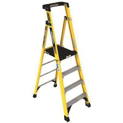 6 ft. Fiberglass Podium Ladder with 10 ft. Reach and 375 lbs. Load Capacity Type IAA Duty Rating
