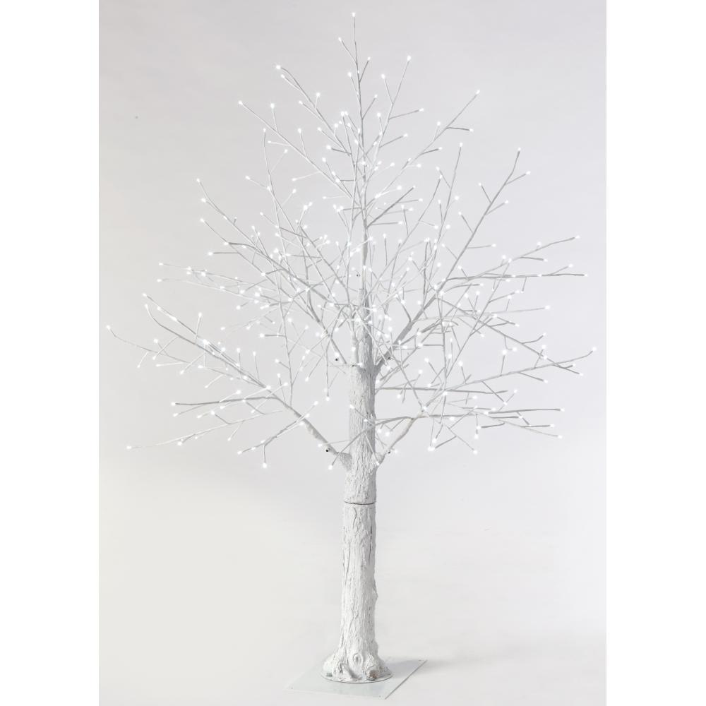 Martha Stewart Living 6 Ft. Pre-Lit LED Snowy White