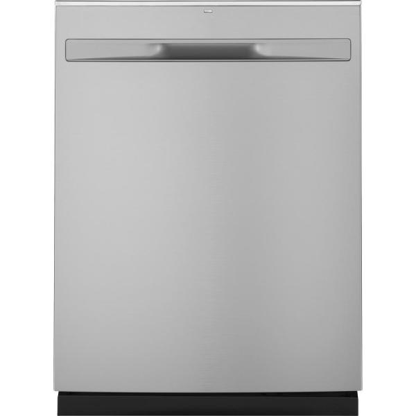 GE 24 in. Top Control Built-In Tall Tub Dishwasher in Stainless Steel with Steam Prewash, 50 dBA
