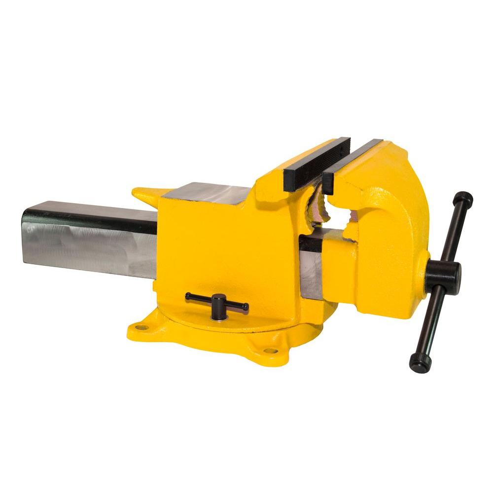 8 In. High Visibility All Steel Utility Workshop Bench Vise