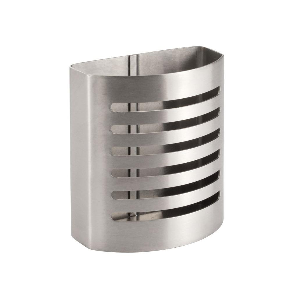 Forma Magnetic Pencil Cup In Brushed Stainless Steel
