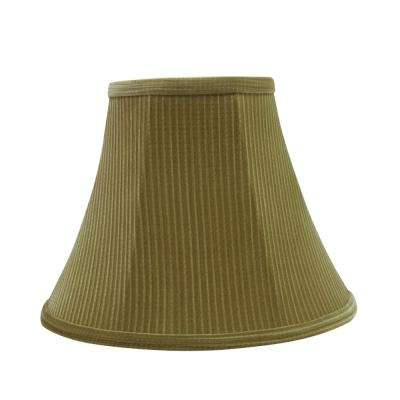 12 in. x 9.5 in. Brown-Green Bell Lamp Shade
