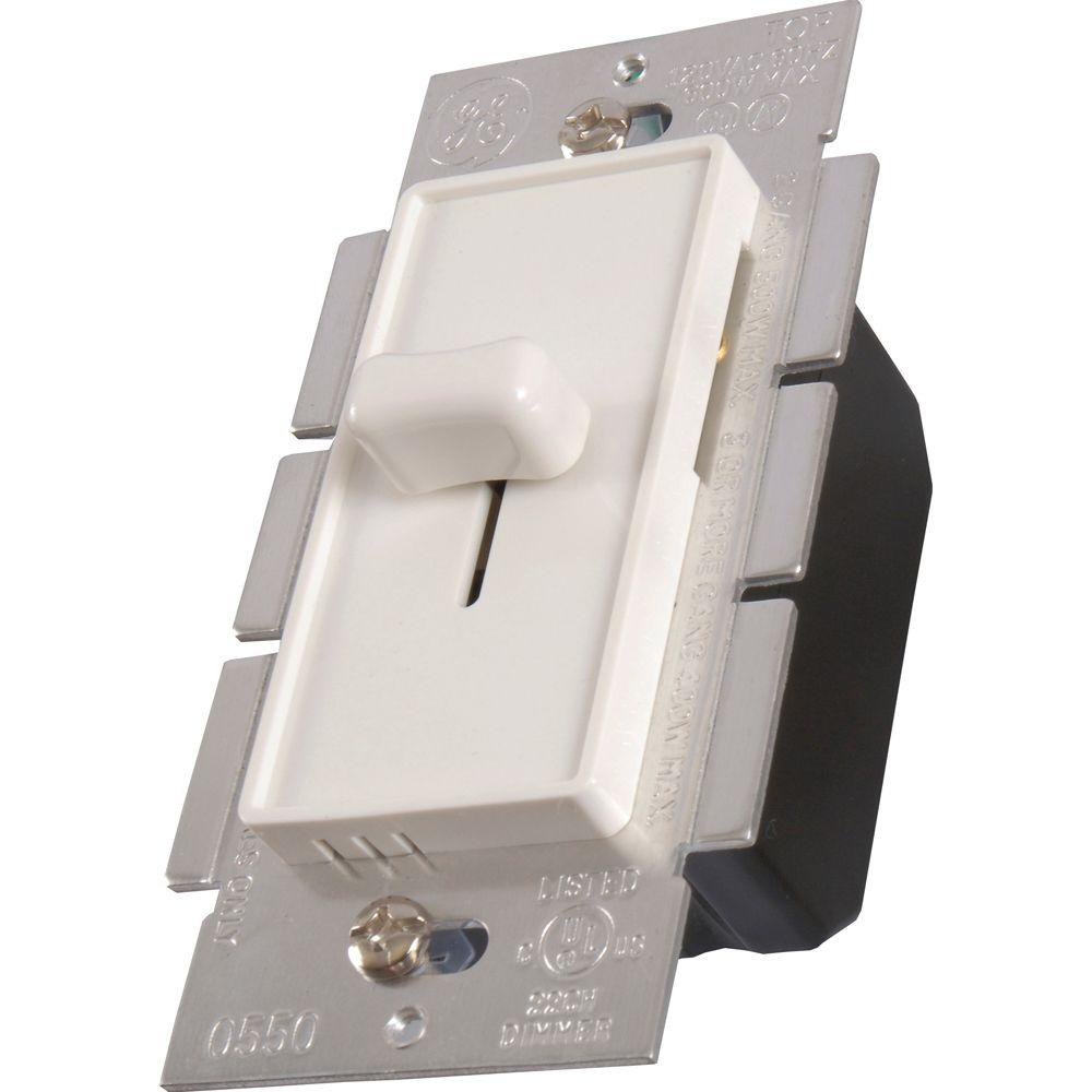 GE Slide Dimmer Switch - White