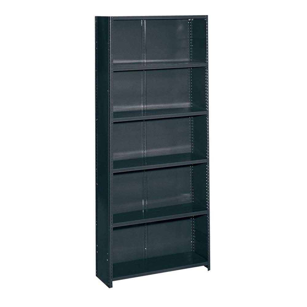 Edsal 36 in. W x 85 in. H x 12 in. D Commercial Grade Closed 6 Shelf Steel Shelving Unit