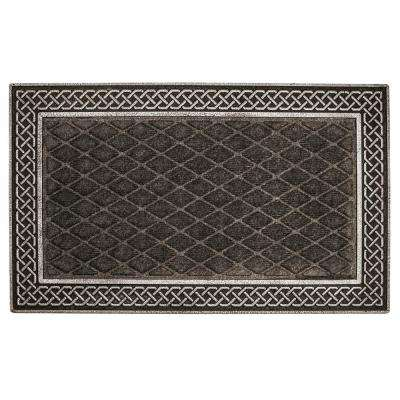 Silver and Gray Weather Beater 18 in. x 30 in. Polypropylene Door Mat