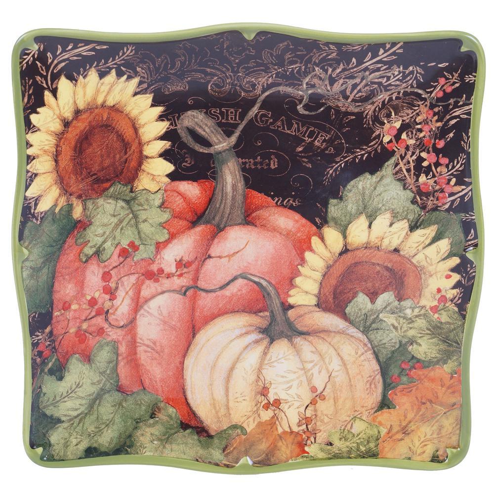 Botanical Harvest Square Platter