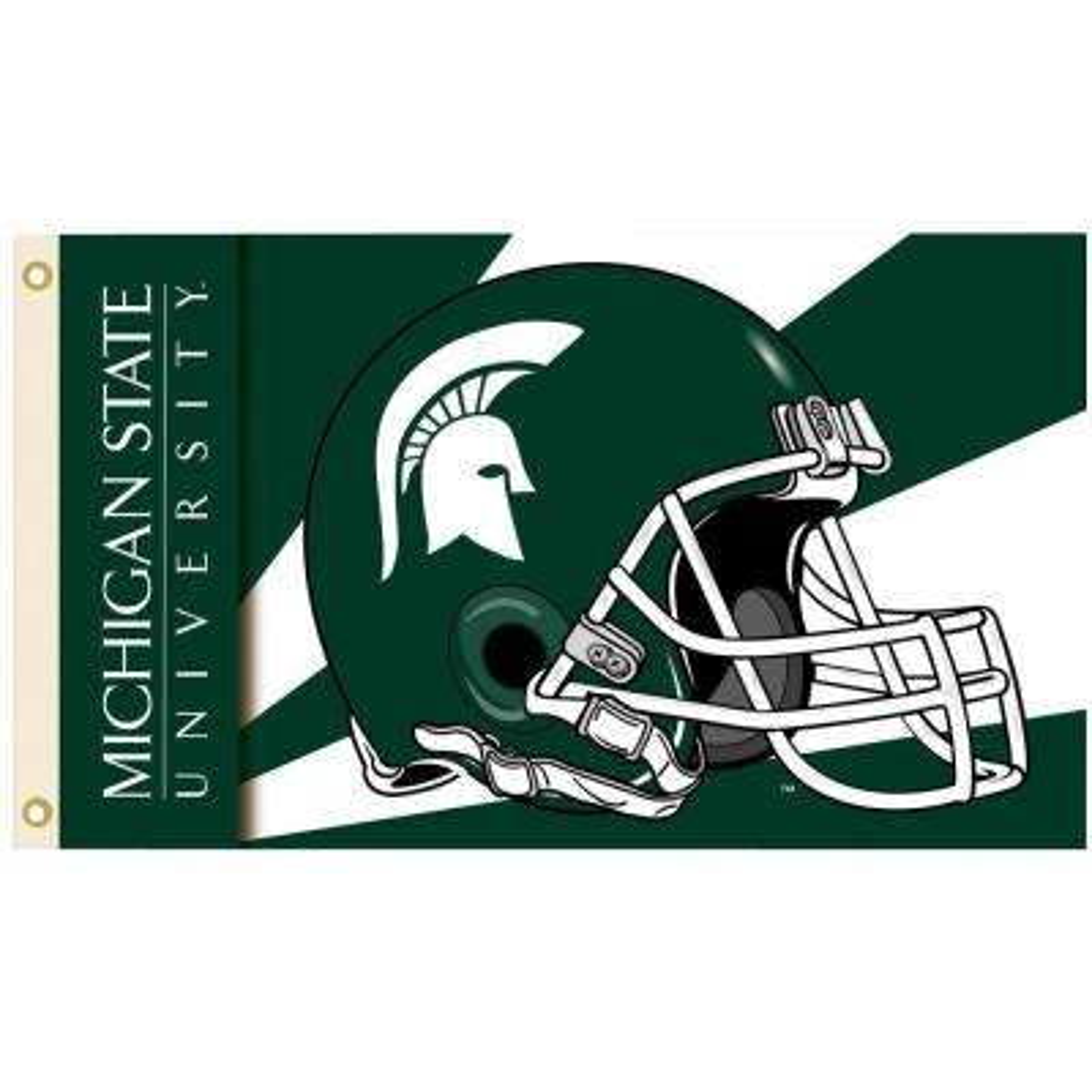 NCAA 3 ft. x 5 ft. Helmet Michigan State Flag