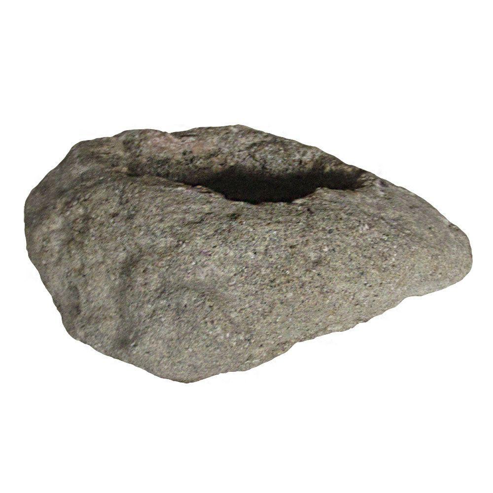 8.25 in. x 7 in. Volcanic Rock Planter in Ash