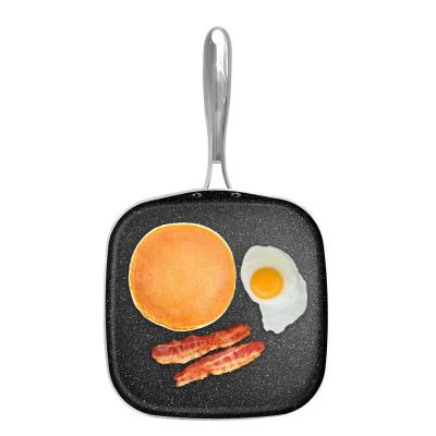 10.5 in. Aluminum Ultra-Durable Non-Stick Diamond Infused Griddle Pan