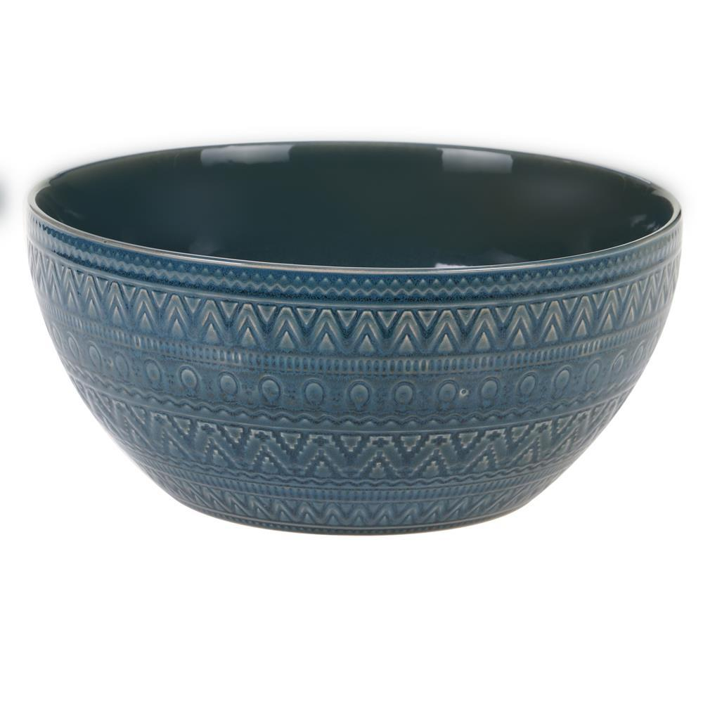Multi-Colored 152 oz. Aztec Teal Deep Bowl
