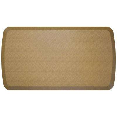 Elite Linen Khaki 20 in. x 36 in. Comfort Kitchen Mat