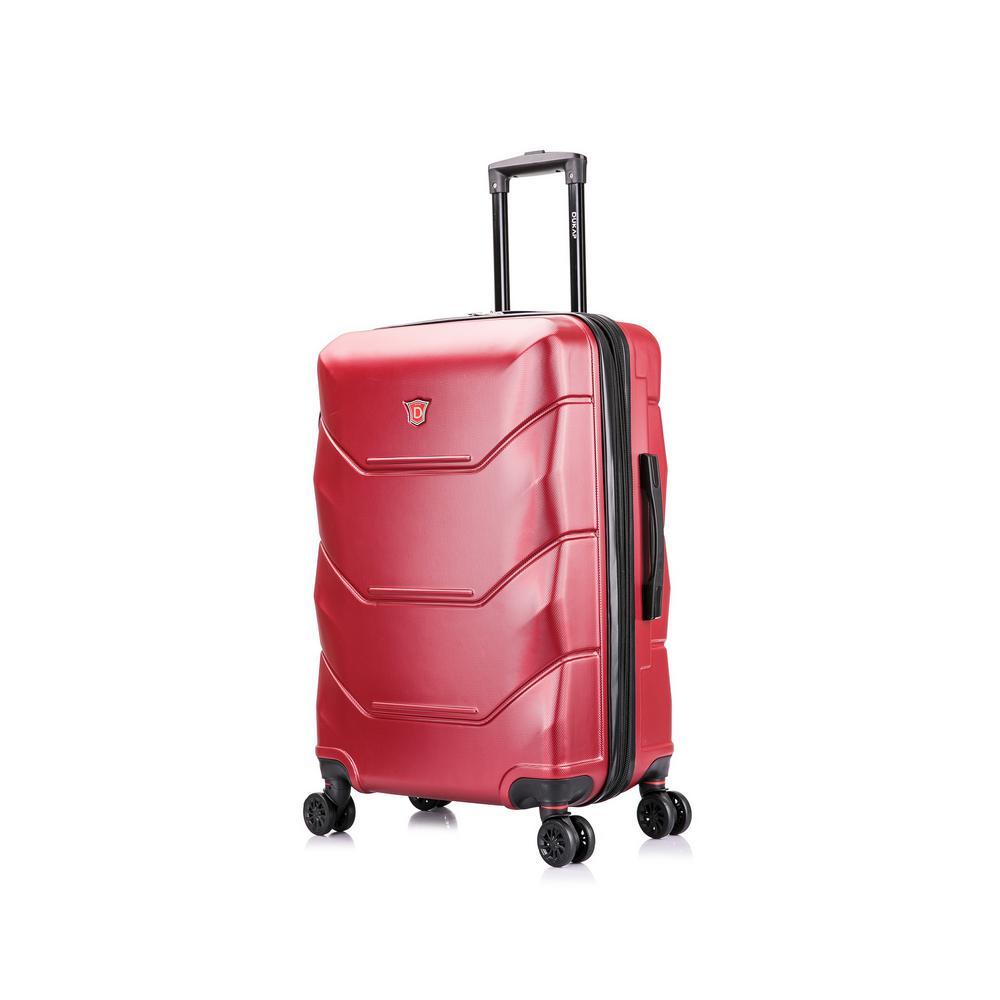 Zonix 28 in. Wine Lightweight Hardside Spinner Suitcase