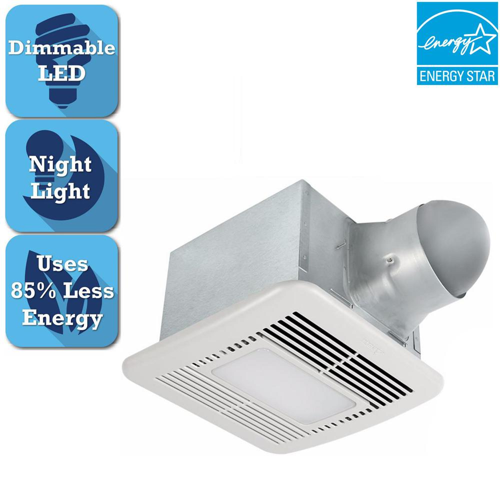 Energy Star Bathroom Fan Shop Broan 0 7 Sone 110 Cfm