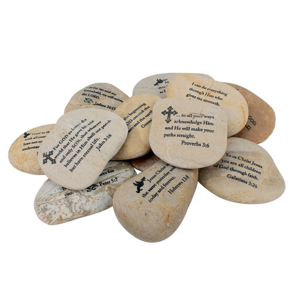 Stonebriar Collection Twelve Large Scripture Rocks - Assortment 1