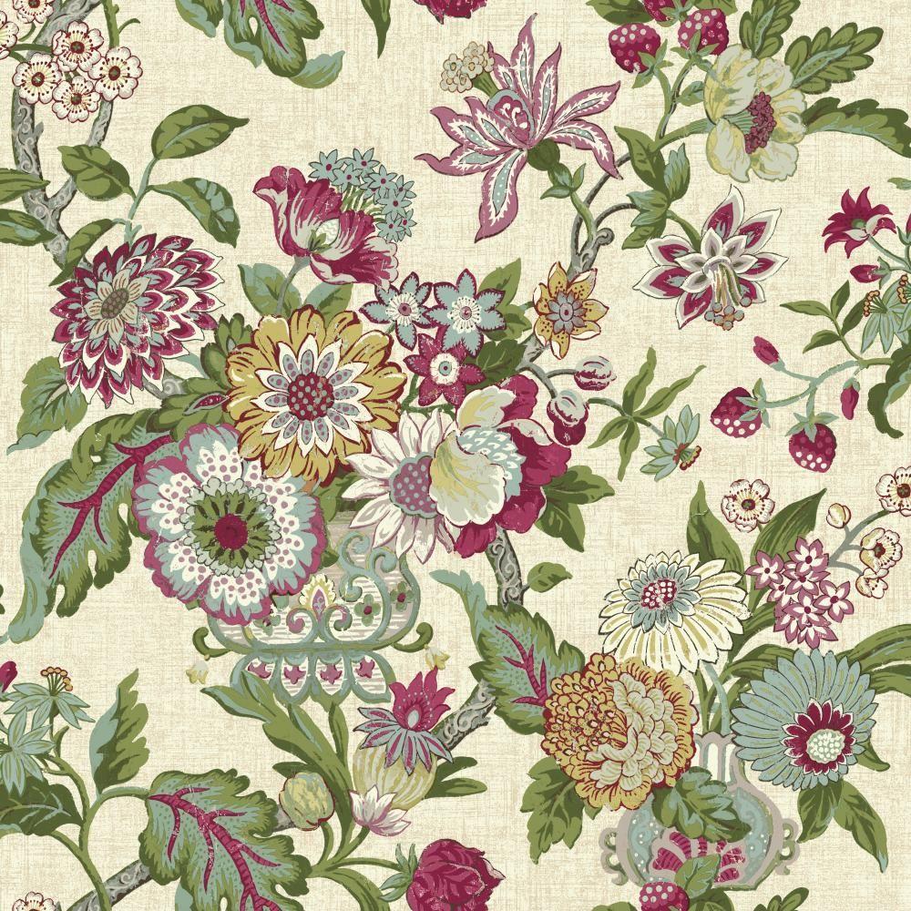 York Wallcoverings Global Chic Graceful Garden Wallpaper GC8701