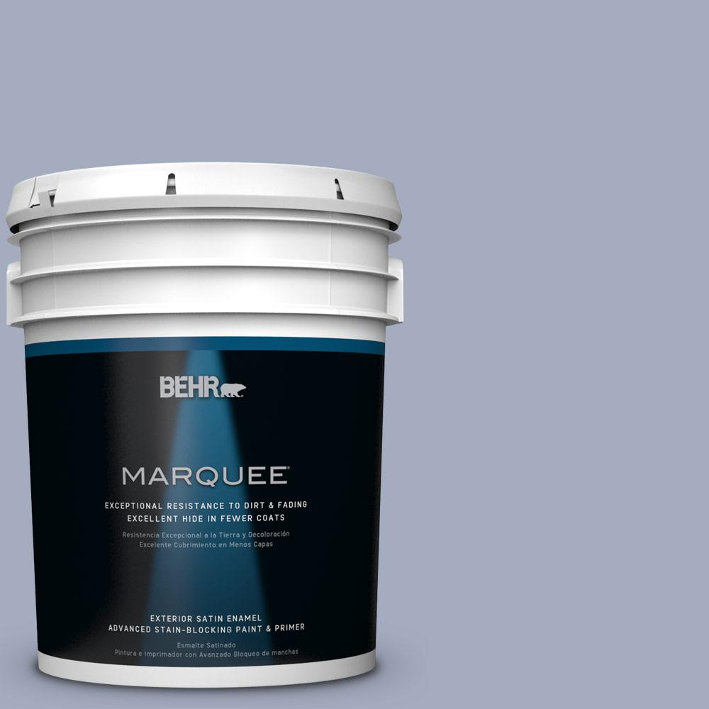 BEHR MARQUEE 5-gal. #ICC-55 Hydrangea Blossom Satin Enamel Exterior Paint