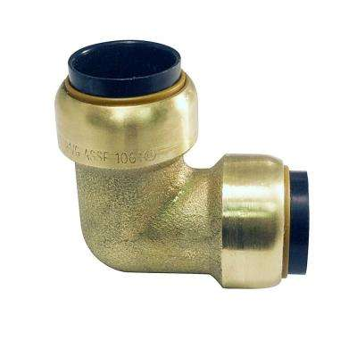 1/2 in. Brass 90-Degree Push-to-Connect Elbow (4-Pack)