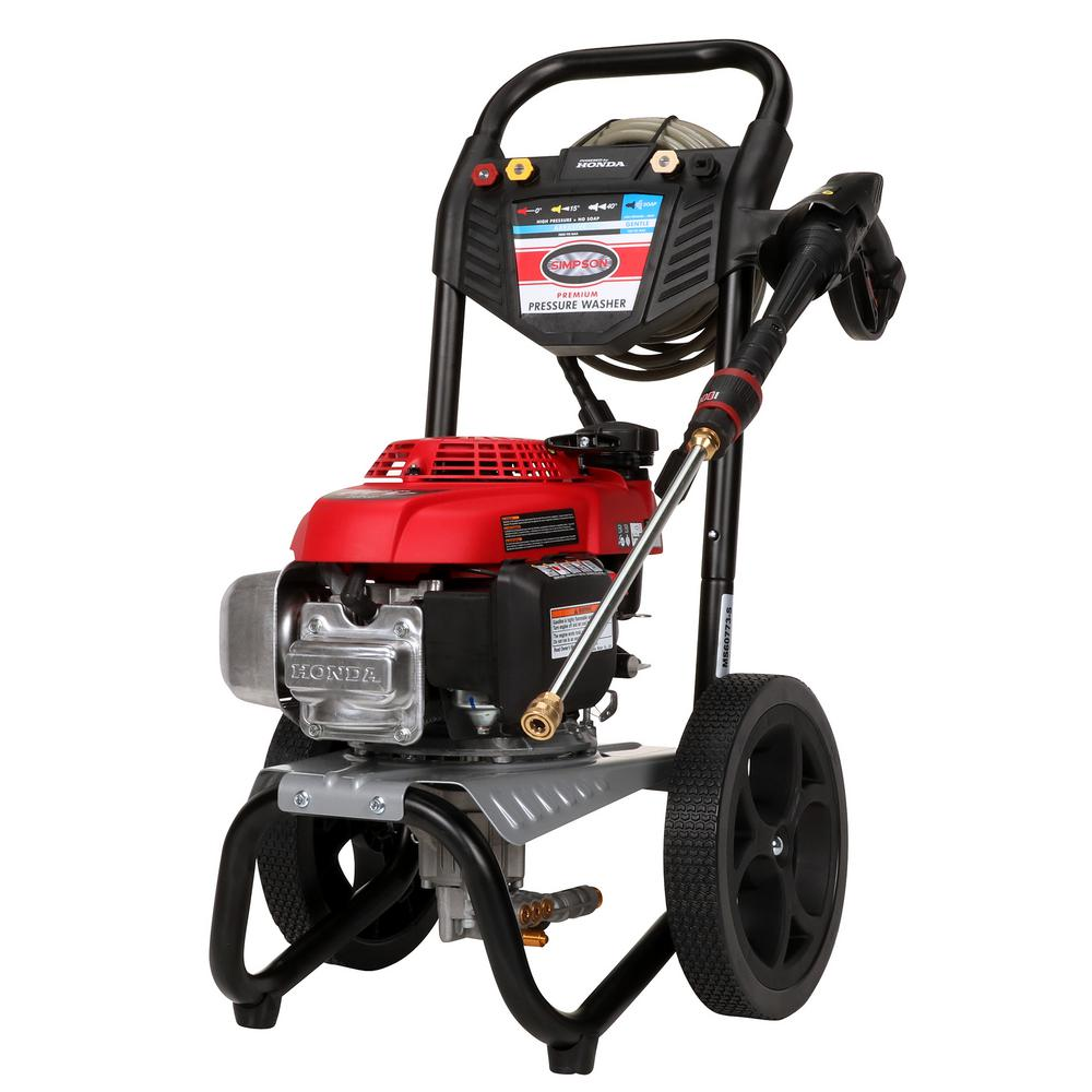 Simpson MS60773-S 2800 PSI 2.3 GPM Gas Pressure Washer Powered by HONDA