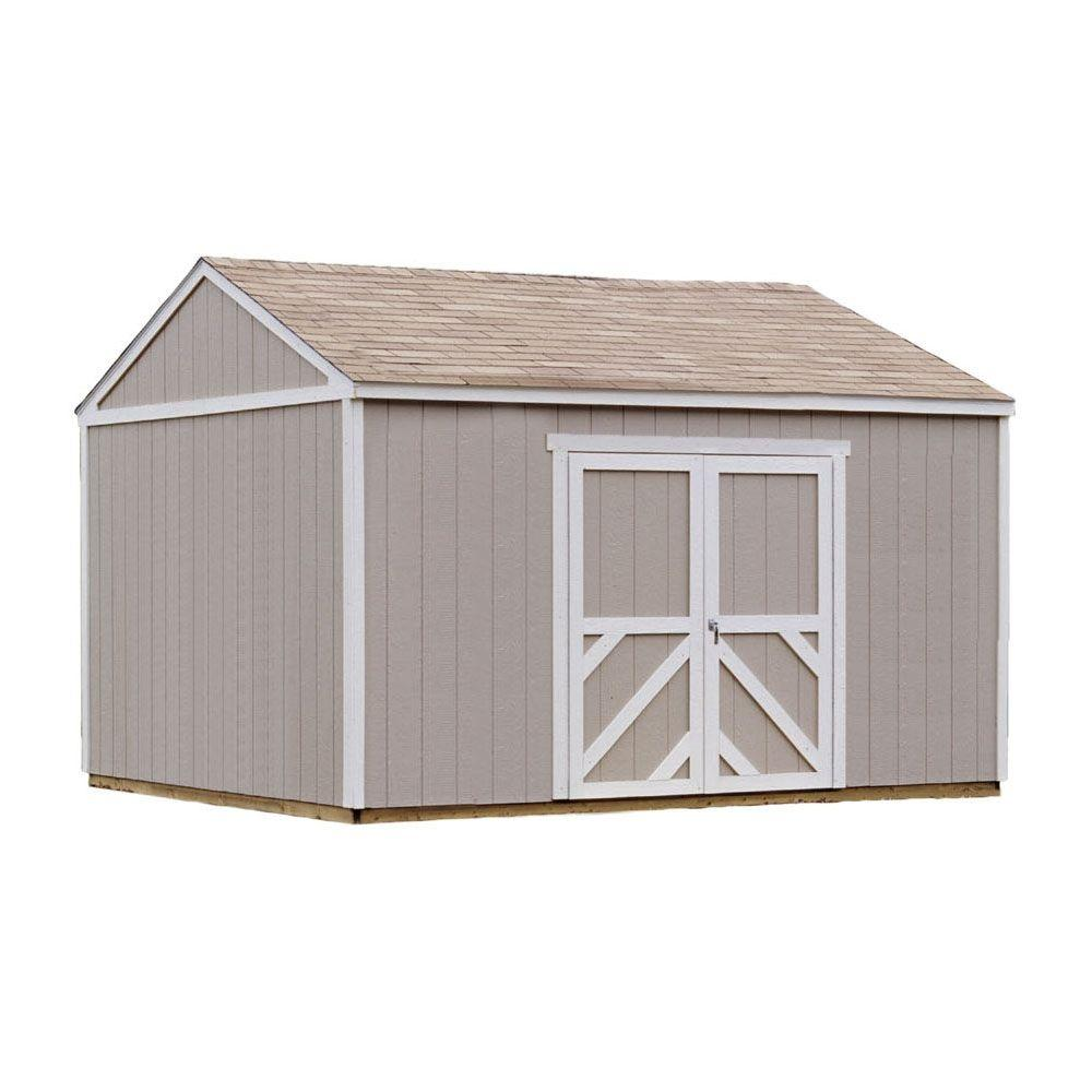 Columbia 12 ft. x 16 ft. Wood Storage Building Kit with