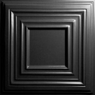 Bistro Black 2 ft. x 2 ft. Lay-in or Glue-up Ceiling Panel (Case of 6)