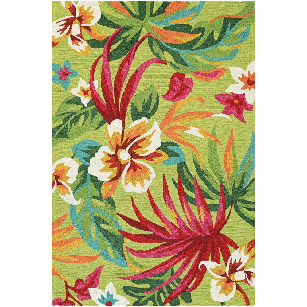 Couristan Covington Painted Fern Fern-Red 4 Ft. X 6 Ft