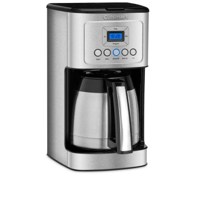 Cuisinart-12-Cup Programmable Silver Coffee Maker with Built-In Timer
