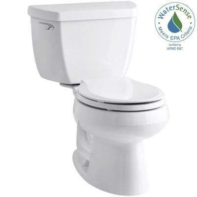 Wellworth Classic 2-Piece 1.28 GPF Round Front Toilet with Class Five Flush Technology in White