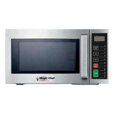 0.9 cu. ft. Commercial Countertop Microwave in Stainless Steel