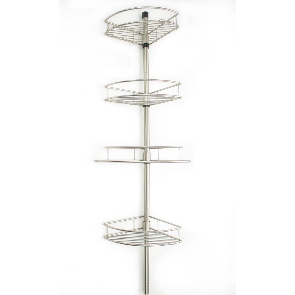 Taymor Shower Tension Pole with 4 Baskets
