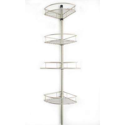 Shower Tension Pole with 4 Baskets