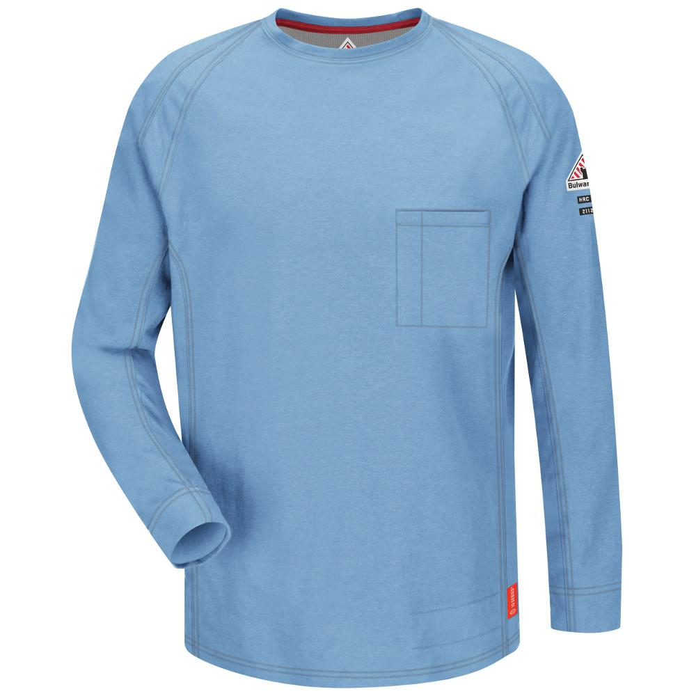 IQ Men's 2X-Large (Tall) Blue Long Sleeve Tee