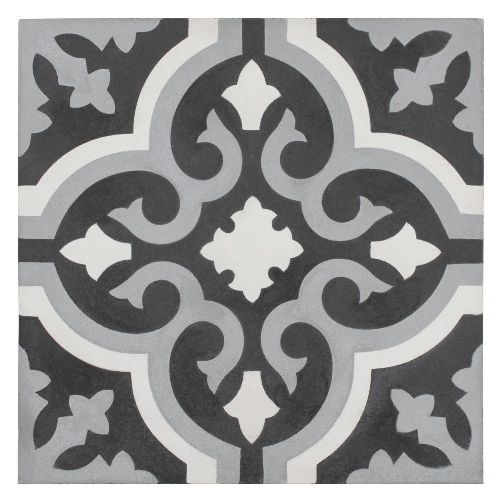Cemento Braga Luna Encaustic 7-7/8 in. x 7-7/8 in. Cement Handmade Floor and Wall Tile