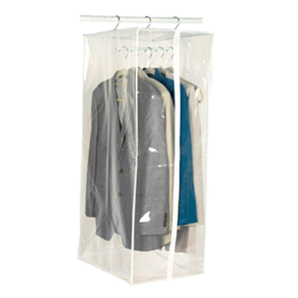 dd6b0b601ea Richards 15 In X 42 Clear Vinyl Suit Storage Bag With Maxi Rack