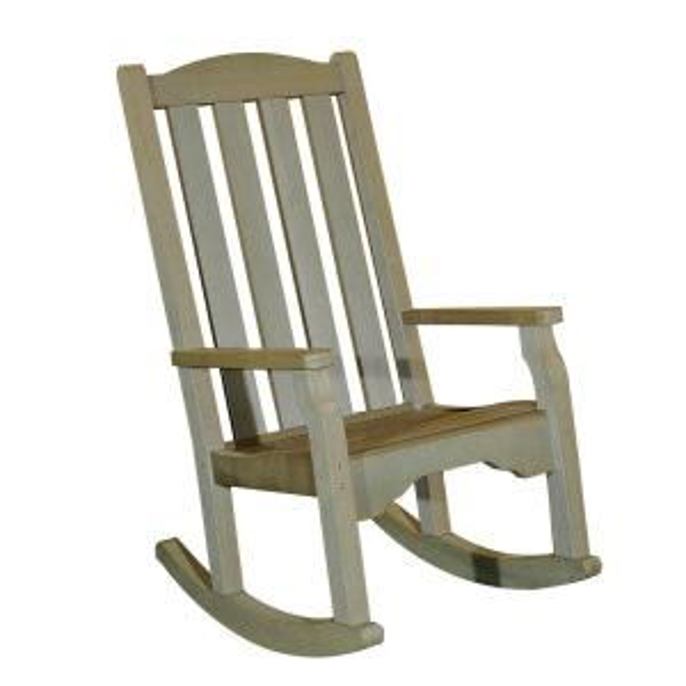 Sunjoy Greenfield Wood Outdoor Rocking Chair 110207014   The Home Depot
