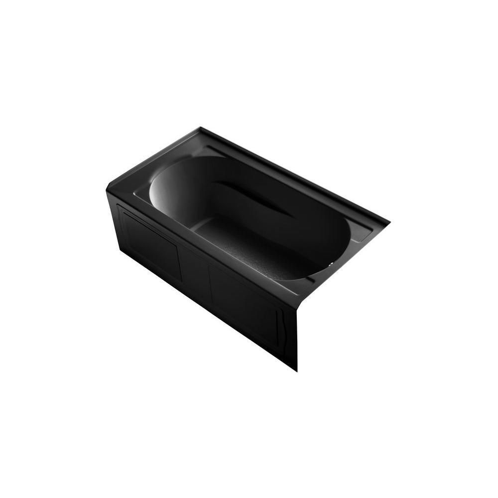 KOHLER Devonshire 5 ft. Right Drain Bathtub in Black Black