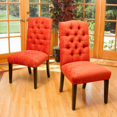 Crown Burnt Orange Dining Chairs (Set of 2)