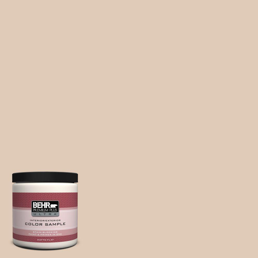 BEHR Premium Plus Ultra 8 oz. #S240-2 Rice Crackers Interior/Exterior Paint Sample