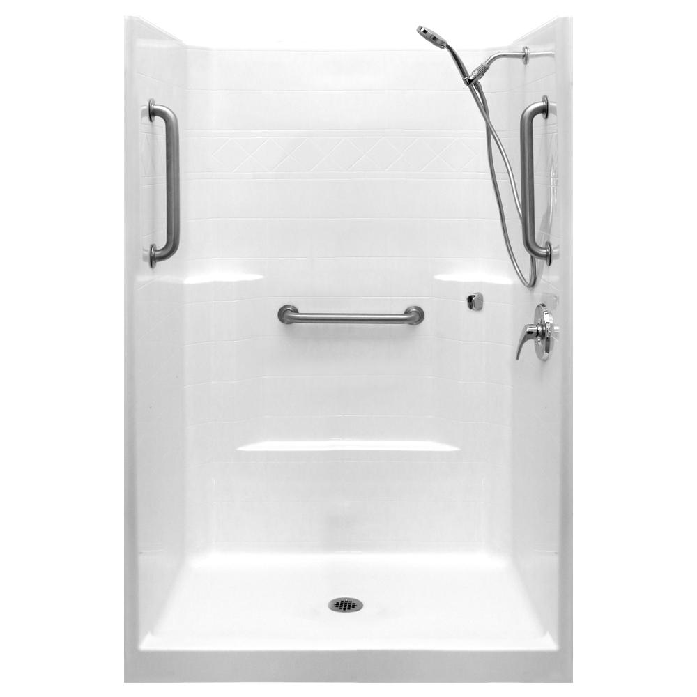 tub unit one combo fiberglass modules stall stalls corner bathtub piece units cleaner best shower standing