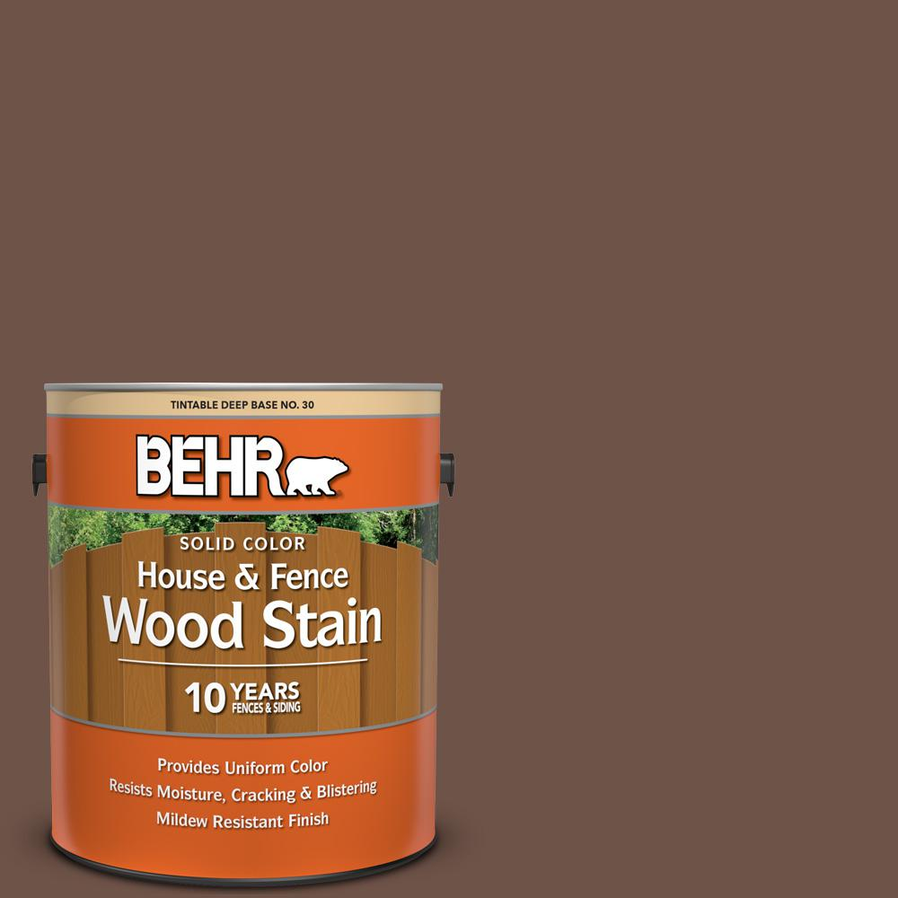 Tobacco Stained Vertical Plank Walls: BEHR 1 Gal. #N230-7 Rustic Tobacco Solid Color House And