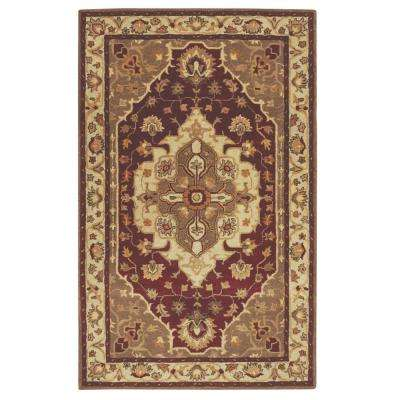Loire Red/Brown 3 ft. x 5 ft. Area Rug