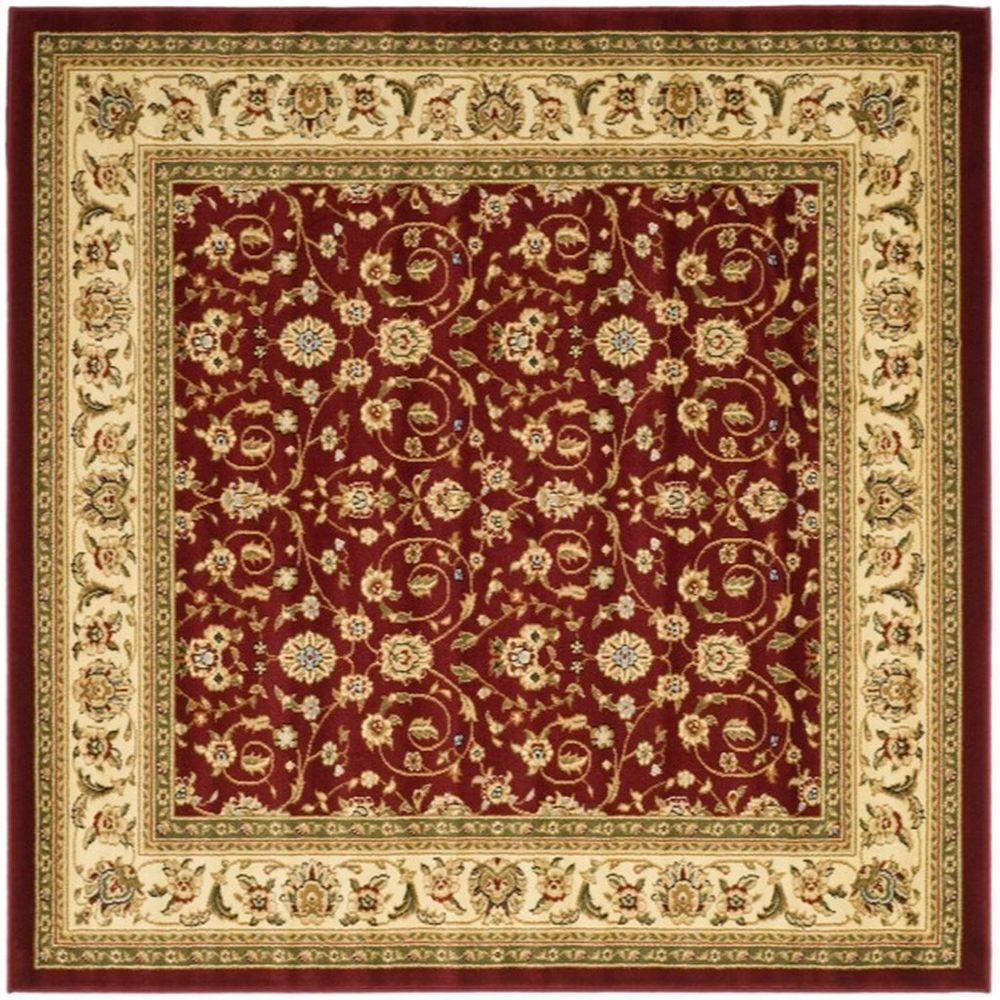 Safavieh Lyndhurst Red Ivory 8 Ft X Square Area Rug