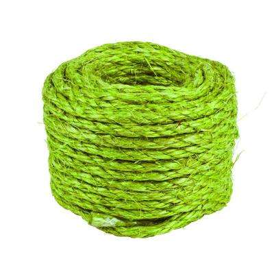 3/16 in. x 50 ft. Twisted Sisal Rope, Green Garden