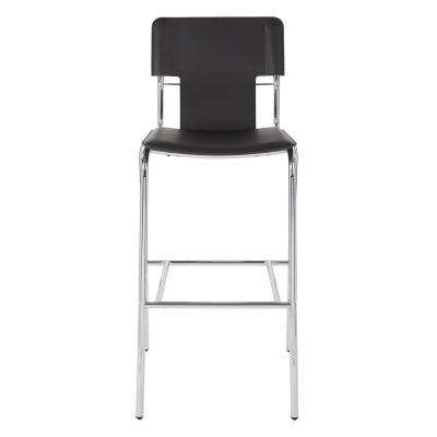 Dorado 30 in. Black Vinyl with Chrome Base Bar Stool (2 per Carton)
