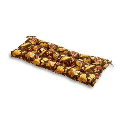 Timberland Floral Rectangle Outdoor Bench Cushion